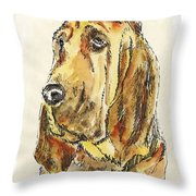 Bloodhound-watercolor Throw Pillow