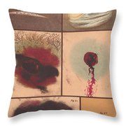 Bloodstain, Blisters, Bullet Holes, 1864 Throw Pillow by Science Source