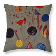 Bloody Colorforms Throw Pillow