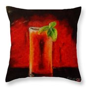 Bloody Mary Coctail Throw Pillow