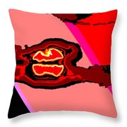 Bloody Red Sun Of Fantastic L.a. Throw Pillow by Jimi Bush