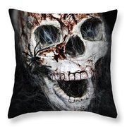 Bloody Skull Throw Pillow