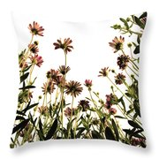 Blooming Above Throw Pillow