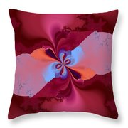 Blooming Color Throw Pillow