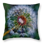 Blooming Dandelion Throw Pillow