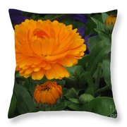 Blooming Gold Throw Pillow