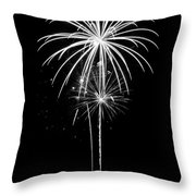 Blooming In Black And White Throw Pillow by Bill Pevlor