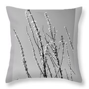 Blooming Twigs Throw Pillow