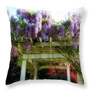 Blooming Wisteria  Throw Pillow