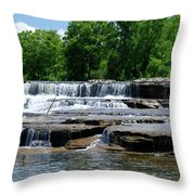 Blossom Road Waterfalls 5123 Throw Pillow