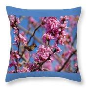 Blossoming Bird Throw Pillow