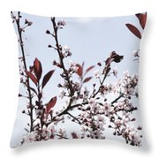 Blossoms In Time Throw Pillow