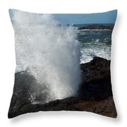 Blow Hole Throw Pillow