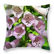 Blow The Trumpet Flora Throw Pillow by Andee Design