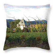Blowing Grape Vines Throw Pillow by Holly Blunkall