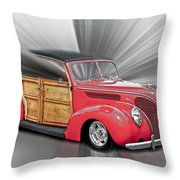 Blown Woody Throw Pillow