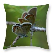 Blue 2 Together Throw Pillow