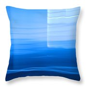 Blue Abstract 1 Throw Pillow