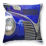 Blue And Chrome Nose Throw Pillow
