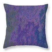Blue And Purple Stone Abstract Throw Pillow
