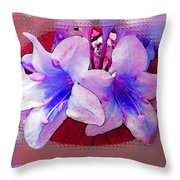 Blue And Red Weigela Window Throw Pillow