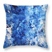 Ocean - Blue Abstract Art Paintingi Throw Pillow