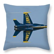 Blue Angel Break Throw Pillow