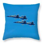 Blue Angels 3 Throw Pillow