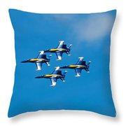 Blue Angels 4 Throw Pillow