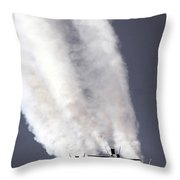 Blue Angels Fa-18c Hornet Aerial Throw Pillow by Stocktrek Images