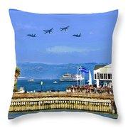 Blue Angels San Francisco Wharf Throw Pillow