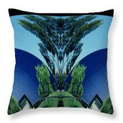 Blue Arches Throw Pillow