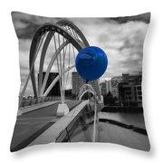 Blue Balloon Throw Pillow