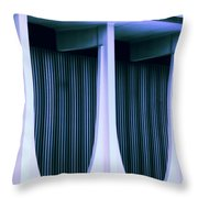 Blue Bank Throw Pillow