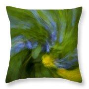 Blue Bells Vortex 2 Throw Pillow