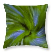 Blue Bells Vortex 3 Throw Pillow
