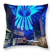 Blue Berlin Throw Pillow