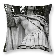 Blue Bird Atop Throw Pillow