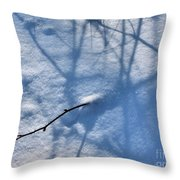 Blue Blackberry Shadows Throw Pillow