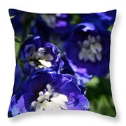 Blue Blossoms Throw Pillow