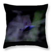Blue Blur Throw Pillow