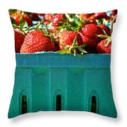 Blue Box Throw Pillow