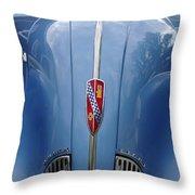 Blue Buick Throw Pillow
