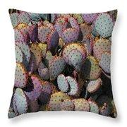 Blue Cactus Throw Pillow