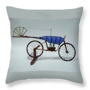 Blue Caravan Throw Pillow by Jim Casey