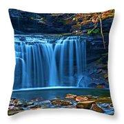 Blue Cascades Throw Pillow