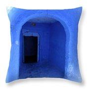 Blue Cave Throw Pillow
