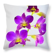 Blue Charm X Aridang Blue Orchid - 1 Throw Pillow