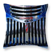 Blue Chevy Pick-up Grill Throw Pillow