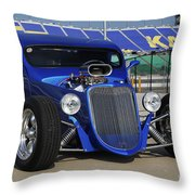 Blue Coupe Throw Pillow